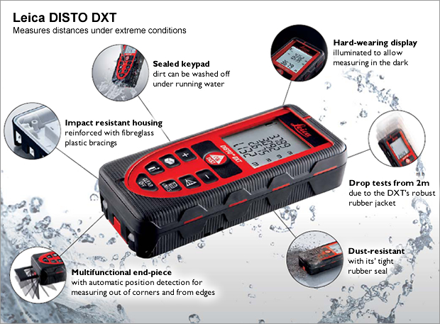 Leica Disto DXT Tough Enough! Digital Distance Meter