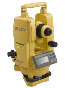 Topcon Electronic Theodolite DT 200 Series