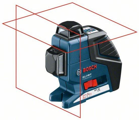 bosch gll 2 80p professional self leveling crossline laser. Black Bedroom Furniture Sets. Home Design Ideas