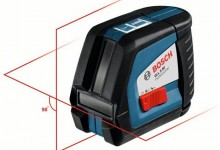Bosch GLL 2-50 Professional Self Leveling Crossline Laser