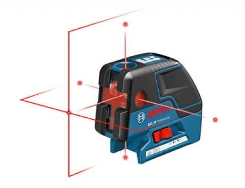 Bosch Introduces Multi-Use GCL 25 Five-Point Laser with Cross-Line