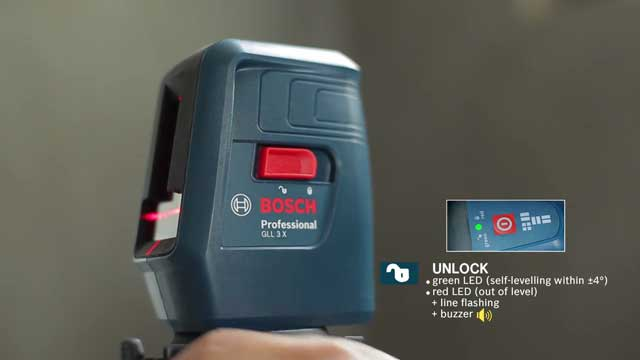 Bosch GLL-3X Professional Crossline Laser  Features