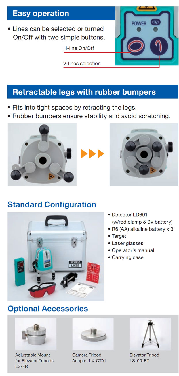 Sokkia LX-34 Technical Specs