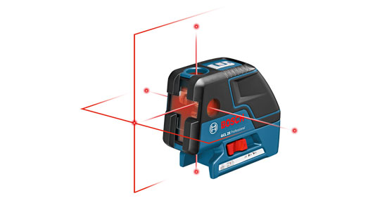 Bosch GCL 25 Five-Point Self Leveling Alignment Laser with Cross-Line