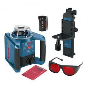 bosch grl 300hv professional lr1 wm4 rc1 rotary laser set. Black Bedroom Furniture Sets. Home Design Ideas