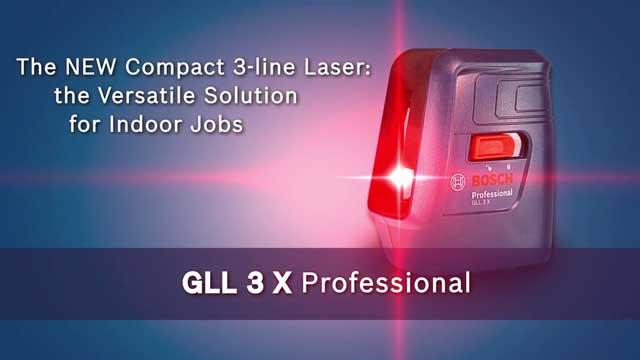 Bosch GLL-3X Professional Crossline Laser