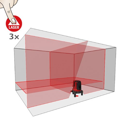 Leica Lino L4P1 Crossline & Point Laser Level