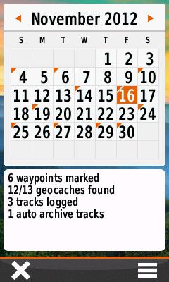 Activity Tracking (Calendar)